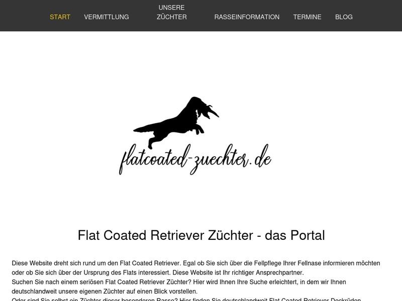 Screenshot von www.flatcoated-zuechter.de