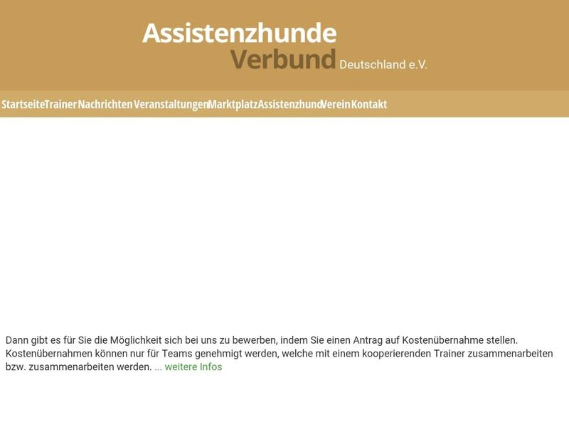 Screenshot von https://www.assistenzhundeverbund.de/